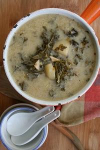 Soupe lactée au kale