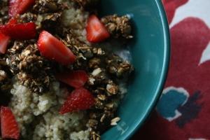 Céréales chaudes de quinoa